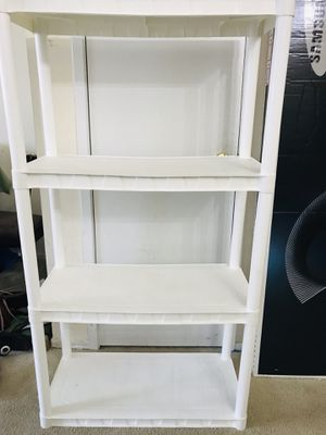 4 tier white plastic storage rack for Sale in Falls Church, VA