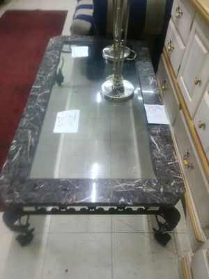 Marble Glass coffee table for Sale in Roanoke, VA
