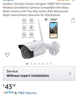 NEW- Outdoor security Camera- 2ways audio. for Sale in Westminster, CA