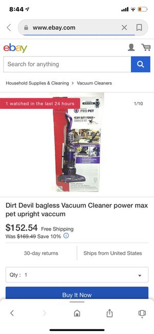Dirt Devil Endura Pro Pet Upright Vacuum for Sale in Garnet Valley, PA