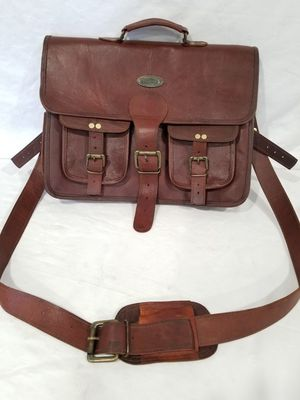 HLC Handmade Original Leather Shoulder Bag Messenger Satchel Laptop for Sale in Garden Grove, CA