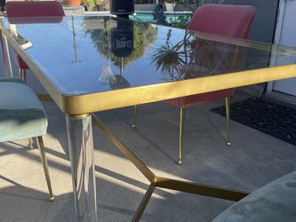 Retro Sheik Glass Table Dining Room Set Anthology Set for Sale in Westminster,  CA