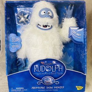 Abominable Snow Monster Bumble Yeti collectible Misfit Toys WORKING Action Figure Figurine Christmas Holiday Rudolph Reindeer Memory Lane Vintage for Sale in Brea, CA