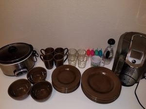 Kitchen appliances, cups and plates for Sale in Phoenix, AZ
