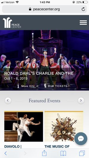 Charlie and the Chocolate Factory (4 tickets) for Sale in Greenville, SC