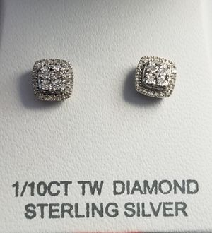 Real Diamond 925 Sterling Silver Stud Earring for Sale in Silver Spring, MD