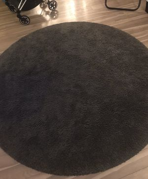 IKEA Gray Round Rug for Sale in West McLean, VA