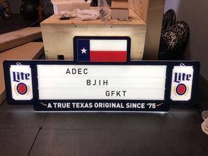 Miller lite LED for Sale in Midland, TX
