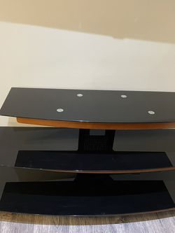 TV Stand- Glass And Wood for Sale in Glendale,  CA