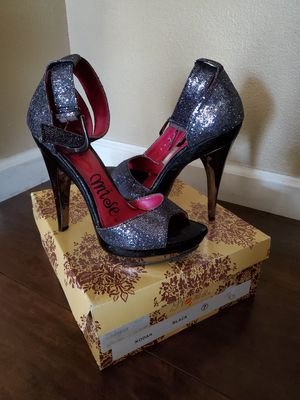 Black Glitter Heels for Sale in Fresno, CA