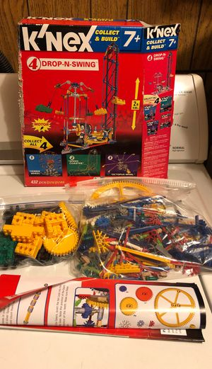 K'NEX Set #4 Collect Build Drop-N-Swing motorized collectable knex Open box for Sale in Edinburgh, IN