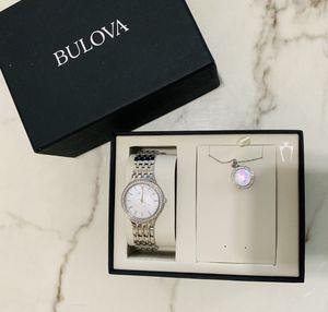 Bulova Watch Swarovski Crystal With Necklace for Sale in Alameda, CA