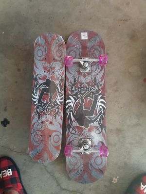 Large and medium skateboard located in Palmdale California both for $45 for Sale in Palmdale, CA