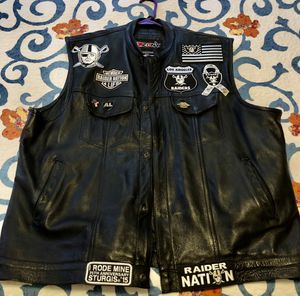 Raider Nation Leather Motorcycle Vest for Sale in Las Vegas, NV