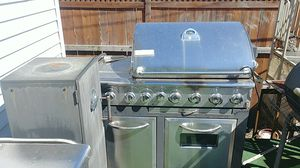 Outside BBQ Grill with oven for Sale in Riverdale, IL
