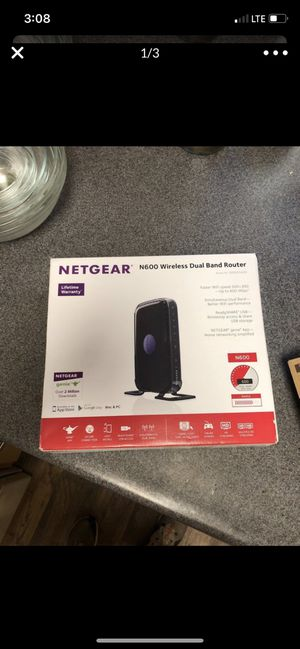 Netgear N600 wireless router for Sale in Seattle, WA
