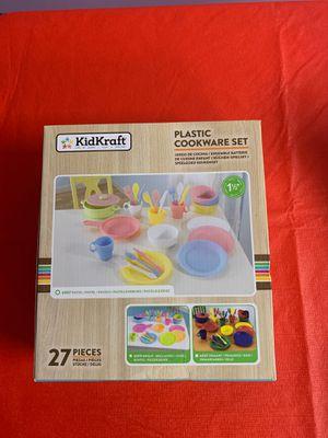 Brand new kid Kraft 27 pcs plastic cookware set for Sale in Buena Park, CA