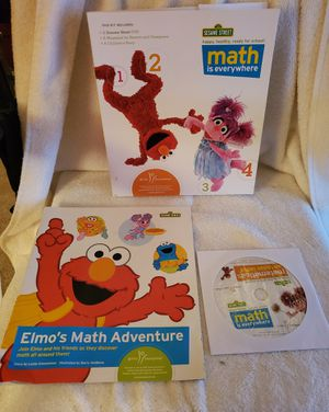 SESAME STREET..MATH IS EVERYWHERE...DVD AND WORKBOOK...2010 for Sale in Lusby, MD
