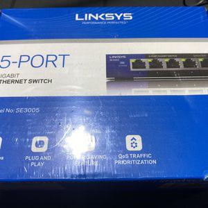 LINKSYS 5-Port Gigabit Ethernet Switch for Sale in Peoria, AZ