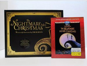 Tim Buron's Nightmare Before Christmas Exclusive Edition Storybook and Bluray for Sale in Phoenix, AZ