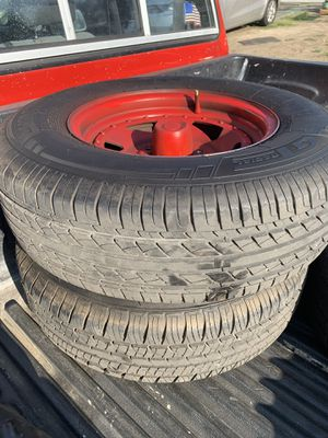 Toyota ford rims and tires for Sale in Hemet, CA