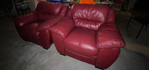 2 Red leather couches for Sale in Haines City, FL