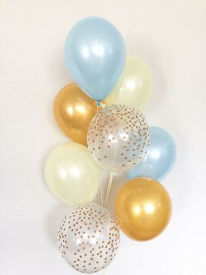 Blue yellow gold balloon bouquet birthday party *FIRM * for Sale in Rancho Cucamonga, CA