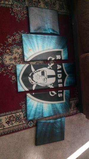 Raiders 5 piece picture set for Sale in Oakland, CA
