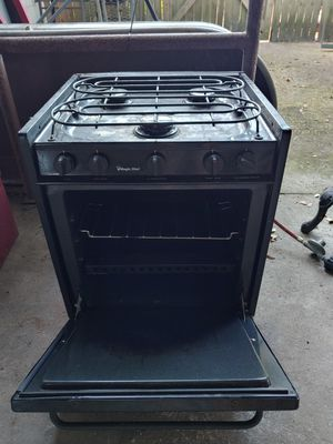 Camping propane stove and oven. Works great. Already converted to hook up to a propane tank. Great for camping or camp. for Sale in Bartow, FL