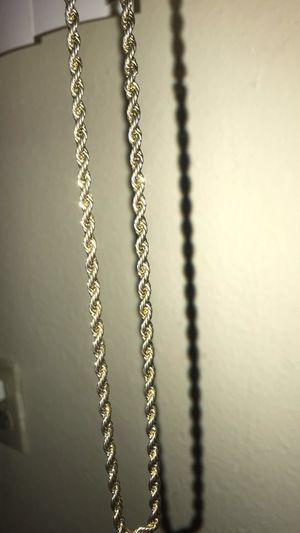 14K gold rope chain for Sale in Hemet, CA