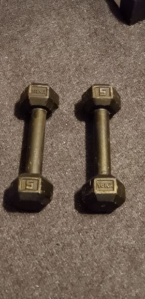 Hex Dumbbells | 5 Pound Set for Sale in Miami, FL