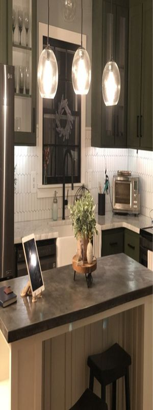 3 - Light Kitchen Island Linear Pendant for Sale in Los Angeles, CA