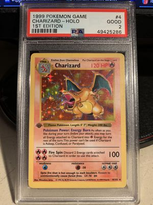 1st Edition Shadowless holographic Base Set Charizard Pokémon Card for Sale in Buena Park, CA