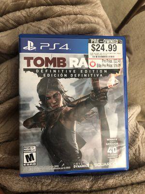 Tomb Raider PS4 for Sale in Marietta, GA