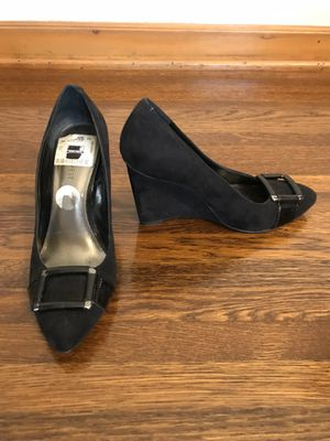 Nine West black shoes wedges for Sale in Glendale, CA