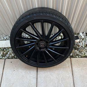 Black rims Motiv montage 417 B 5x114.3 lug pattern for Sale in Hialeah, FL
