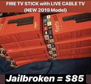 FIRE TV STICK with LIVE CABLE TV (New 2019 Device) for Sale in Ellenwood, GA