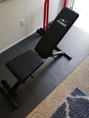 Foldable Adjustable Flat Incline Decline FID Workout Gym Bench for Sale in San Diego, CA