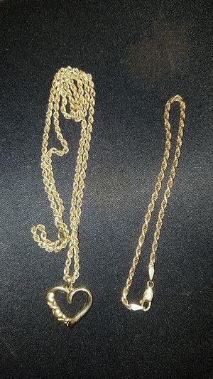14k heart w/Rope chain and bracelet for Sale in Phoenix, AZ