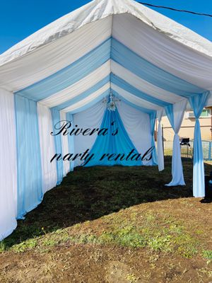 10x20whit baby blue & white draping for Sale in Norwalk, CA