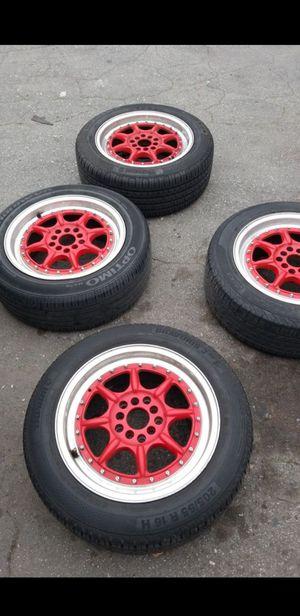 "16"" xxr 002 racing rims 5 lug universal 5x114.3 5x100 for Sale in Whittier, CA"
