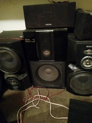 Surround sound good condition different brands like JBL Samsung and Sony but all for sale together for Sale in Stockton, CA