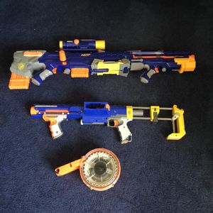 Nerfs Guns For Sale And One Air Soft Gun for Sale in Manalapan Township, NJ