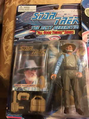 Star trek The Next Generation 3 different action figures for Sale in Baldwin, NY