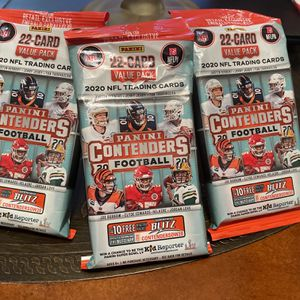 Panini Football Contenders Value Pack Lot Of 3 for Sale in Utica, MI