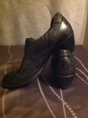 Black size 7.5 women's leather boots for Sale in Sunnyvale, CA