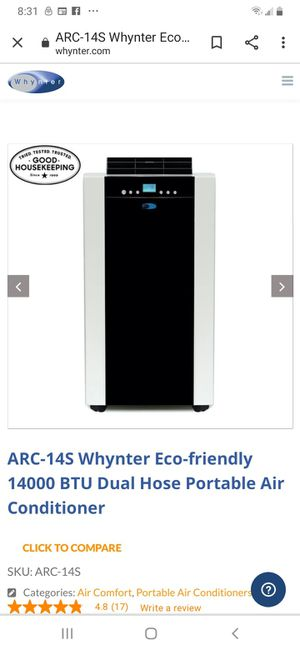 Wynter Portable Air Conditioner Arc 15S for Sale in Long Beach, CA
