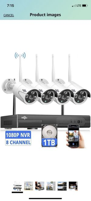 Brand New[Expandable 8CH] Wireless Security Camera System with 1TB Hard Drive with One-Way Audio, 8 Channel NVR 4Pcs 1080P 2.0MP Night Vision WiFi IP for Sale in Alhambra, CA