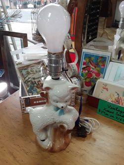 Vintage Ceramic Lamb Nursery Lamp for Sale in Canby,  OR