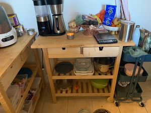 IKEA wood kitchen cart for Sale in Bethesda, MD